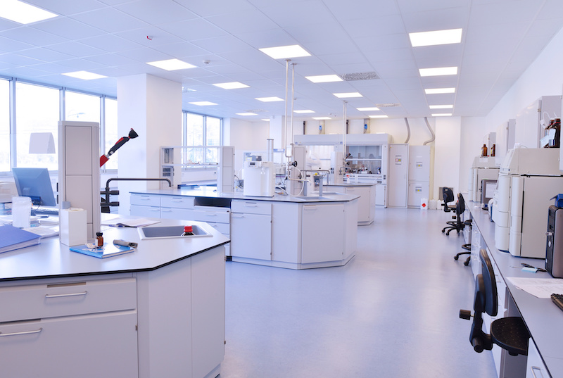Bright shot of a medical laboratory.