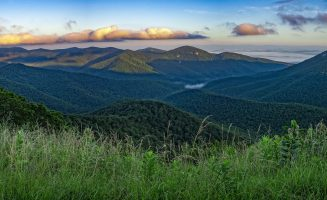 Panoramic view of Shenandoah National Park, Virginia, USA