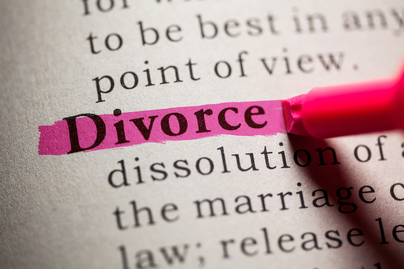 Divorce in the dictionary