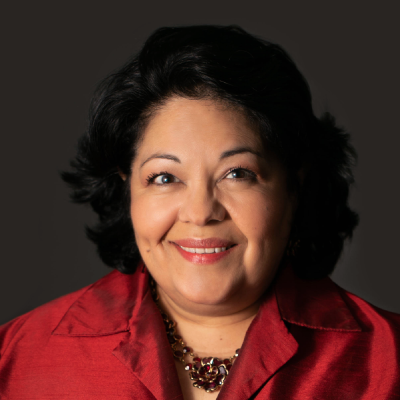 A headshot of Brenda Rodriguez, a receptionist at Tingen & Williams.