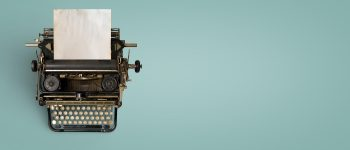 Vintage typewriter header.